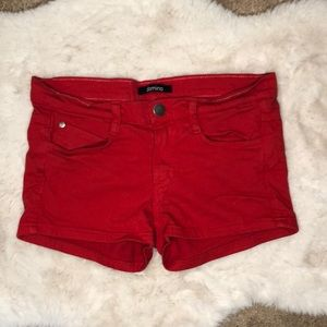 Domino Red Jean Shorts - Fourth of July